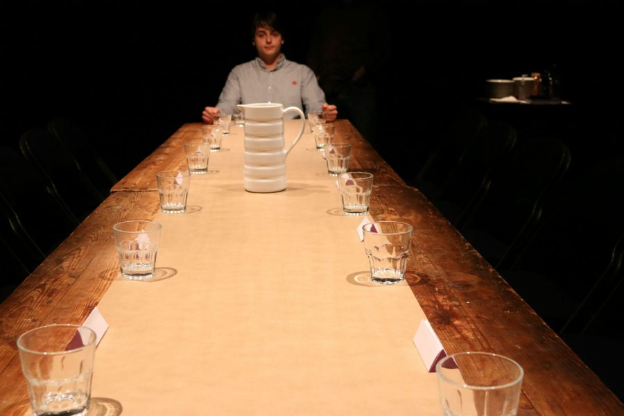 Leo Burtin at the head of the table