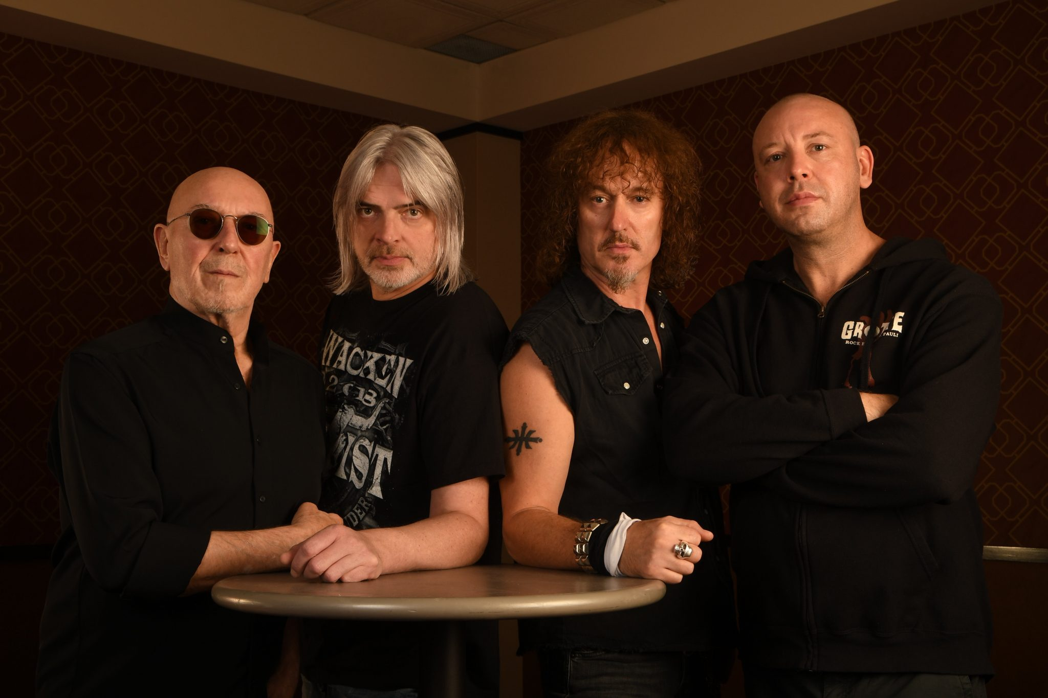 Nazareth - Pete Agnew, Jimmy Murrison, Carl Sentance and Lee Agnew. Photo by Calvin Fehr