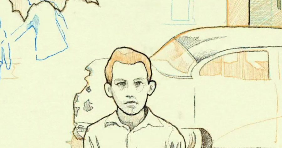 Image from Roys Wolrd showing a sketch of young Roy