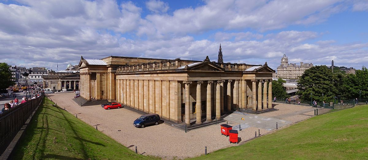 Photo of the National Gallery of Scotland from Wikimedia Commons